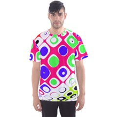 Color Ball Sphere With Color Dots Men s Sport Mesh Tee
