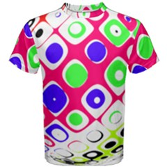 Color Ball Sphere With Color Dots Men s Cotton Tee