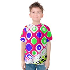 Color Ball Sphere With Color Dots Kids  Cotton Tee