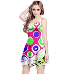 Color Ball Sphere With Color Dots Reversible Sleeveless Dress