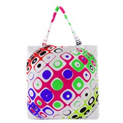 Color Ball Sphere With Color Dots Grocery Tote Bag