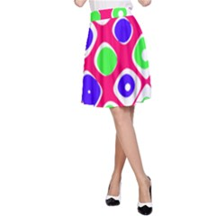 Color Ball Sphere With Color Dots A Line Skirt
