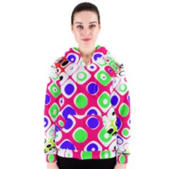 Color Ball Sphere With Color Dots Women s Zipper Hoodie