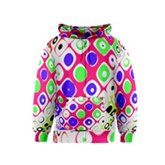 Color Ball Sphere With Color Dots Kids  Zipper Hoodie