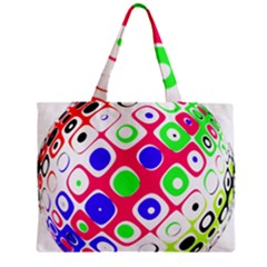 Color Ball Sphere With Color Dots Zipper Mini Tote Bag