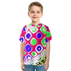 Color Ball Sphere With Color Dots Kids  Sport Mesh Tee