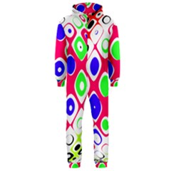 Color Ball Sphere With Color Dots Hooded Jumpsuit (Men)