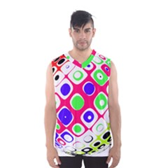 Color Ball Sphere With Color Dots Men s Basketball Tank Top