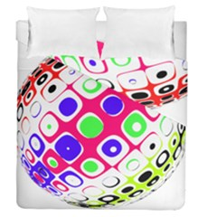 Color Ball Sphere With Color Dots Duvet Cover Double Side (queen Size)