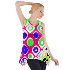 Color Ball Sphere With Color Dots Side Drop Tank Tunic