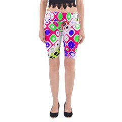 Color Ball Sphere With Color Dots Yoga Cropped Leggings
