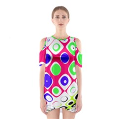 Color Ball Sphere With Color Dots Shoulder Cutout One Piece