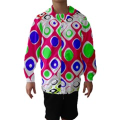 Color Ball Sphere With Color Dots Hooded Wind Breaker (kids)