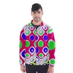 Color Ball Sphere With Color Dots Wind Breaker (Men)