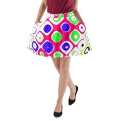 Color Ball Sphere With Color Dots A Line Pocket Skirt