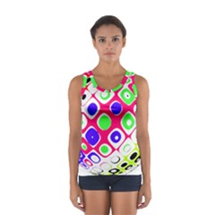 Color Ball Sphere With Color Dots Women s Sport Tank Top