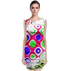 Color Ball Sphere With Color Dots Classic Sleeveless Midi Dress