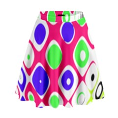 Color Ball Sphere With Color Dots High Waist Skirt