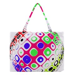 Color Ball Sphere With Color Dots Medium Tote Bag