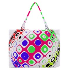 Color Ball Sphere With Color Dots Medium Zipper Tote Bag