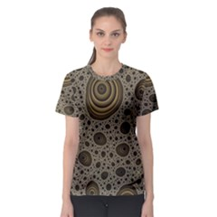 White Vintage Frame With Sepia Targets Women s Sport Mesh Tee