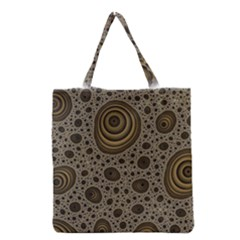 White Vintage Frame With Sepia Targets Grocery Tote Bag