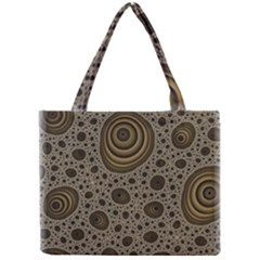 White Vintage Frame With Sepia Targets Mini Tote Bag