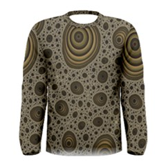 White Vintage Frame With Sepia Targets Men s Long Sleeve Tee