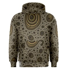 White Vintage Frame With Sepia Targets Men s Pullover Hoodie