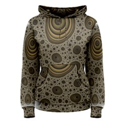 White Vintage Frame With Sepia Targets Women s Pullover Hoodie