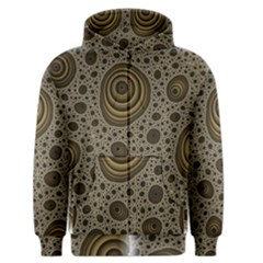 White Vintage Frame With Sepia Targets Men s Zipper Hoodie