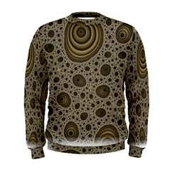 White Vintage Frame With Sepia Targets Men s Sweatshirt