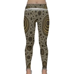 White Vintage Frame With Sepia Targets Classic Yoga Leggings