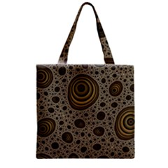 White Vintage Frame With Sepia Targets Zipper Grocery Tote Bag
