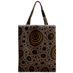 White Vintage Frame With Sepia Targets Zipper Classic Tote Bag