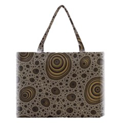 White Vintage Frame With Sepia Targets Medium Tote Bag