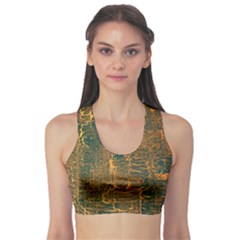 Black And Yellow Color Sports Bra