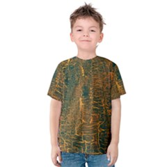 Black And Yellow Color Kids  Cotton Tee