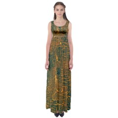Black And Yellow Color Empire Waist Maxi Dress