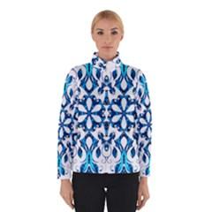 Blue Snowflake On Black Background Winterwear