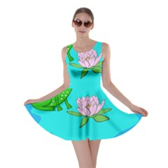 Frog Flower Lilypad Lily Pad Water Skater Dress