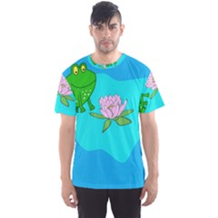 Frog Flower Lilypad Lily Pad Water Men s Sport Mesh Tee