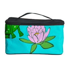 Frog Flower Lilypad Lily Pad Water Cosmetic Storage Case