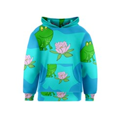 Frog Flower Lilypad Lily Pad Water Kids  Pullover Hoodie