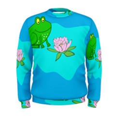 Frog Flower Lilypad Lily Pad Water Men s Sweatshirt