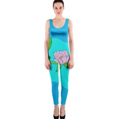 Frog Flower Lilypad Lily Pad Water OnePiece Catsuit