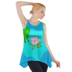 Frog Flower Lilypad Lily Pad Water Side Drop Tank Tunic