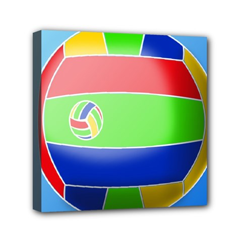 Balloon Volleyball Ball Sport Mini Canvas 6  X 6