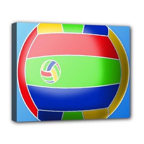 Balloon Volleyball Ball Sport Deluxe Canvas 20  X 16