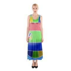 Balloon Volleyball Ball Sport Sleeveless Maxi Dress